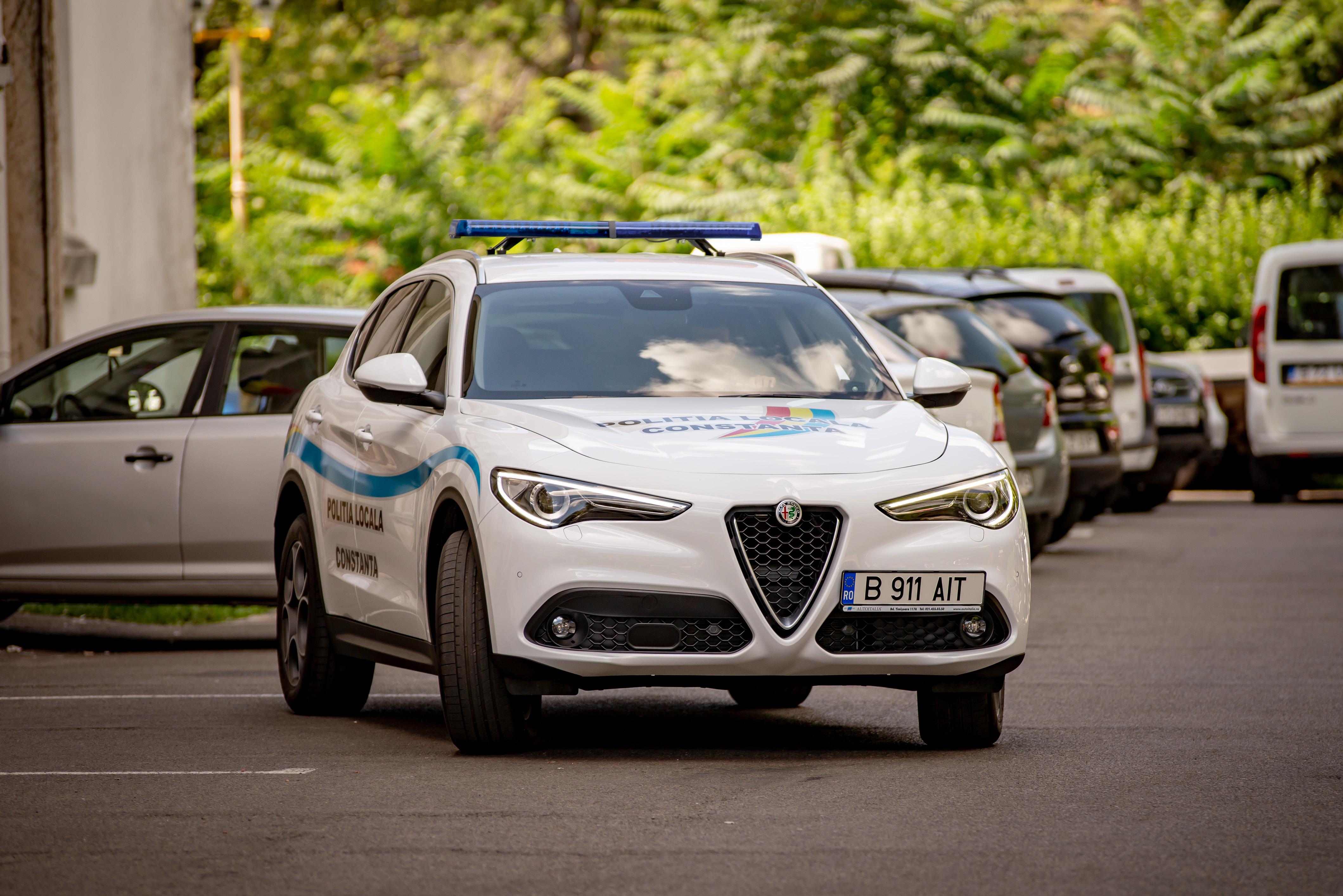 alfa romeo stelvio, now in service of the local police in constanta